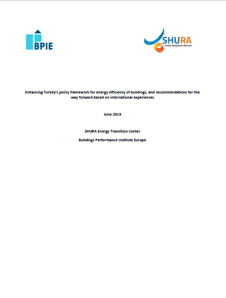 Enhancing Turkey's policy framework for energy efficiency of buildings, and recommendations for the way forward based on international experiences